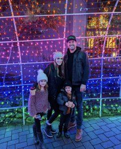 Family at Cambria Christmas Market