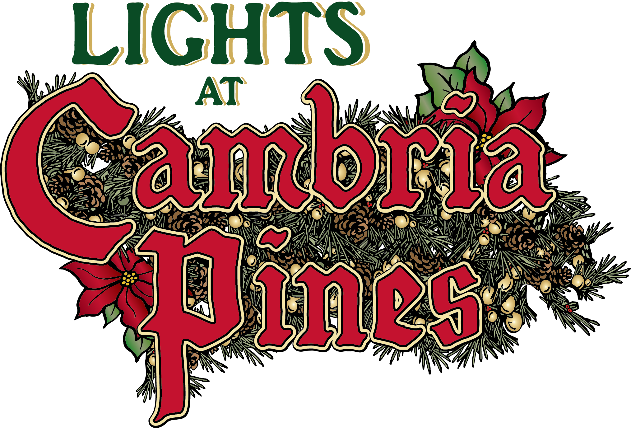 Cambria Christmas Market 2020 Lights at Cambria Pines